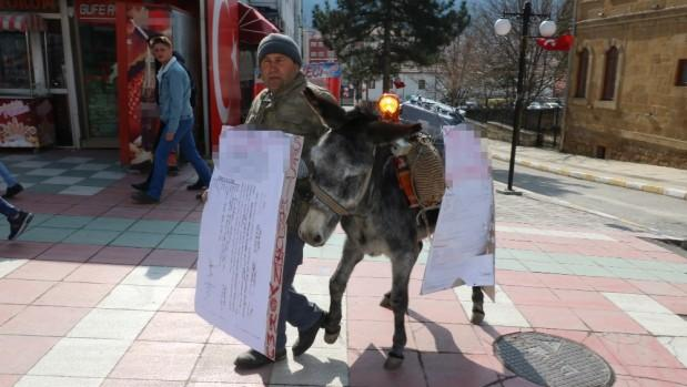 Yozgat'ta eşekli eylem