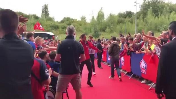 Yusuf Yazıcı Lille ile ilk maçı için stada böyle geldi