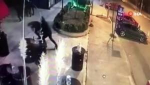 Gece kulübüne silahlı saldırı kamerada